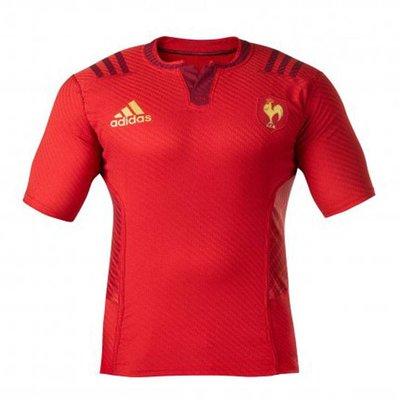 Adidas Frankrijk Short Sleeved Away Rugby Shirt