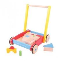 Bigjigs - Loopwagen met blokken baby