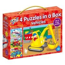 Galt - 4 Puzzels in een doos - Voertuigen