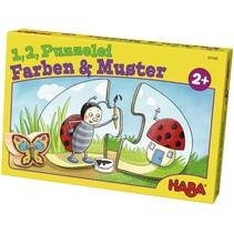 Haba - 1,2 Puzzel mee - Kleuren & patronen - 10x2st.