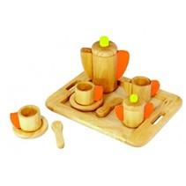 I'm Toy - Theeservies - Op dienblad - Groen/oranje