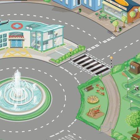Le Toy Van Le Toy Van - Speelmat stad - Autospeelkleed