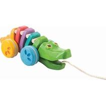 PlanToys - Trekdier - Dansende krokodil - Regenboog