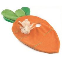 Egmont Toys - Kiekeboe Konijn in wortel - Knuffellapje