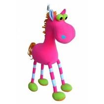 Jumpers - Wiebeldier aan veer - Paard - Roze