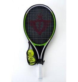 Angelsports - Tennisracket - Groen - Incl. ballen - 25 inch