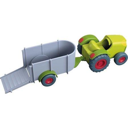 HABA Haba - Little friends - Tractor met aanhanger