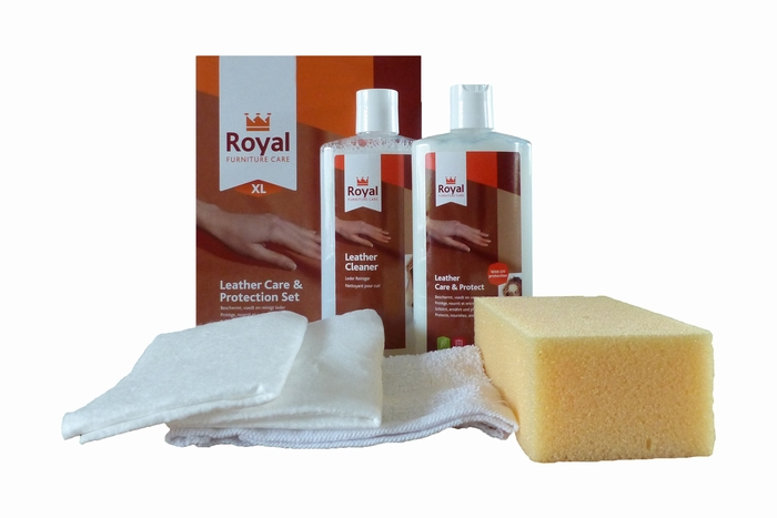 Leather care protection set