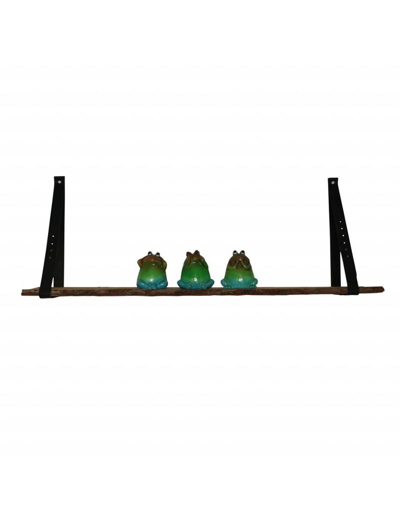 100% original leather shelf support black (price for one piece)