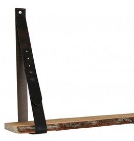 NiiNiiX Leren plankdrager donkerbruin verstelbaar (prijs per stuk)