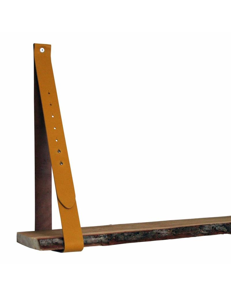 100% original Leren plankdrager oker geel verstelbaar (prijs per stuk)