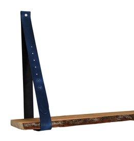 NiiNiiX Leren plankdrager jeans blauw verstelbaar (prijs per stuk)