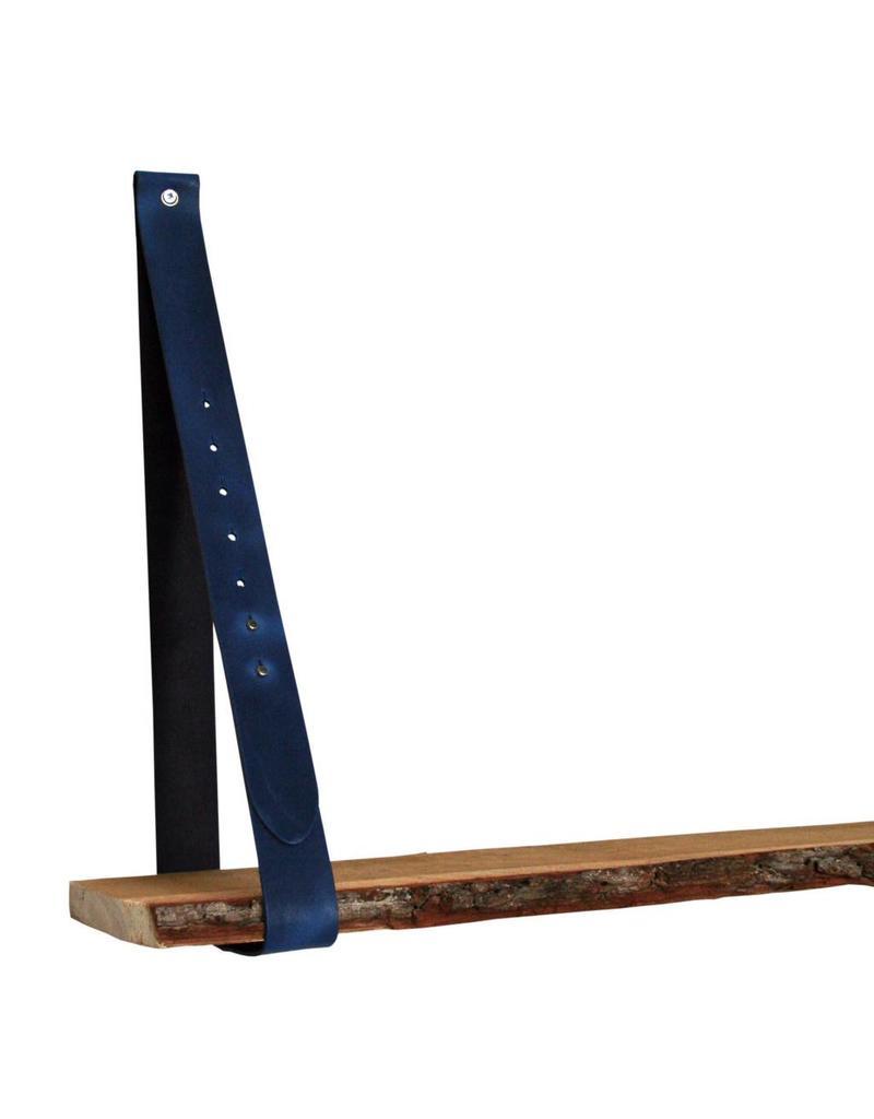 100% original Lederregalhalter Jeans blau verstellbar (Preis pro Stück)