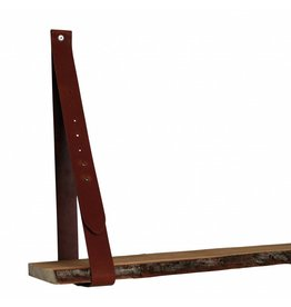 NiiNiiX leather shelf support cognac