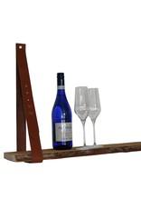 NiiNiiX Leren plankendragers cognac verstelbaar (prijs per stuk)