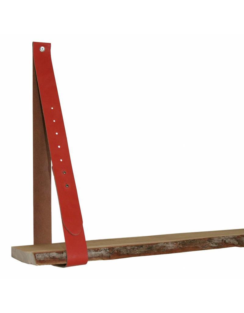 100% original Lederregalhalter brick red/orange verstellbar (Preis pro Stück)