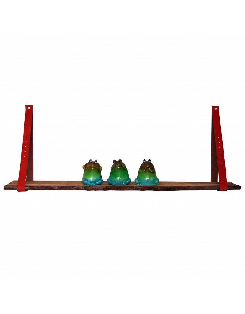 100% original leather shelf support brick red/orange (price one piece)