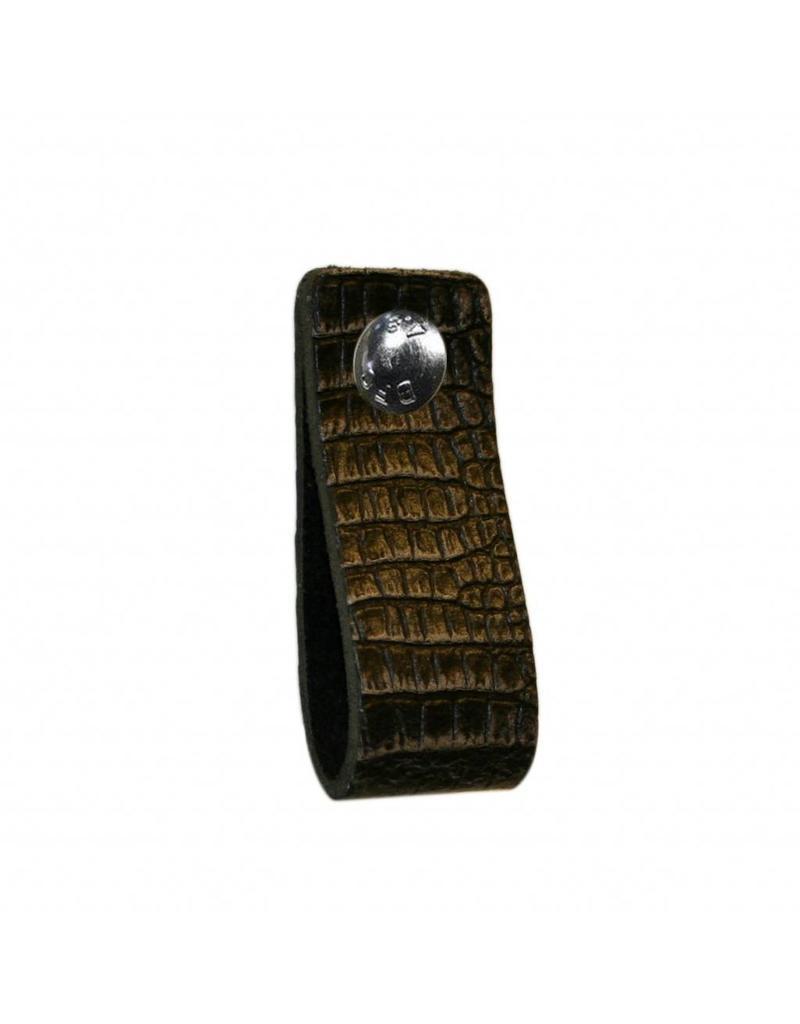 NiiNiiX Leather handle Black / Grey with crocodile print