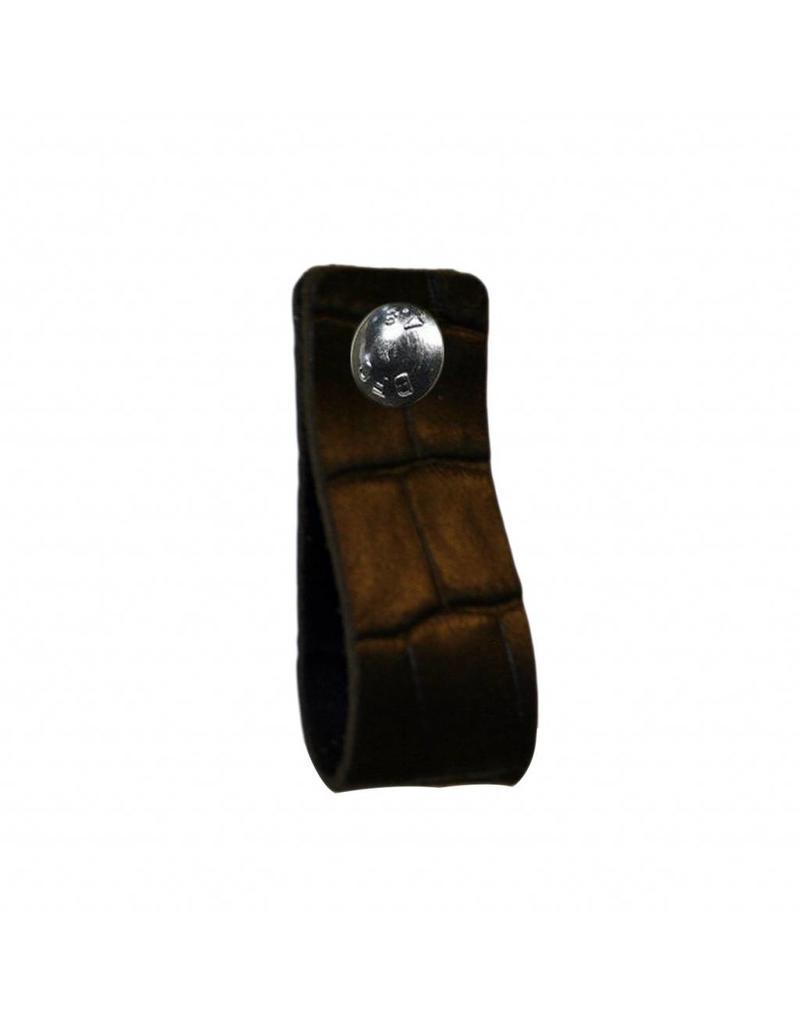 NiiNiiX Leather handle black with crocodile print