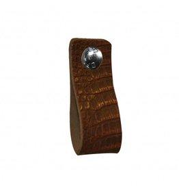 NiiNiiX Leather handle brown with crocodile print