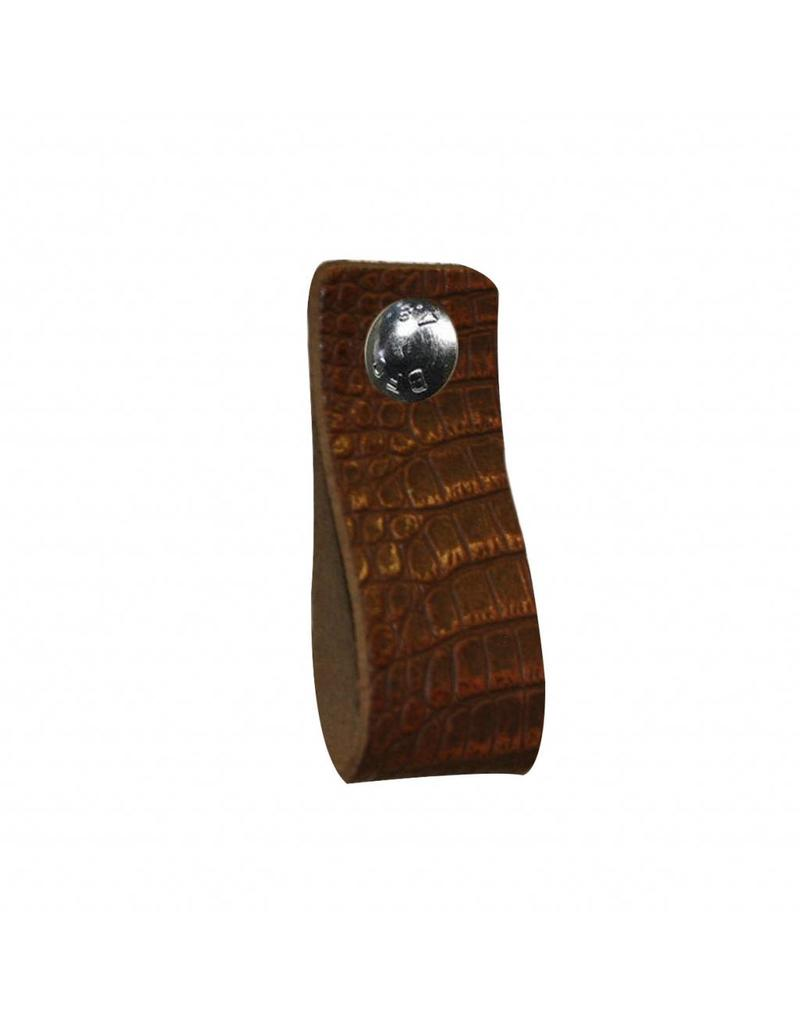 100% original Leather handle brown with crocodile print