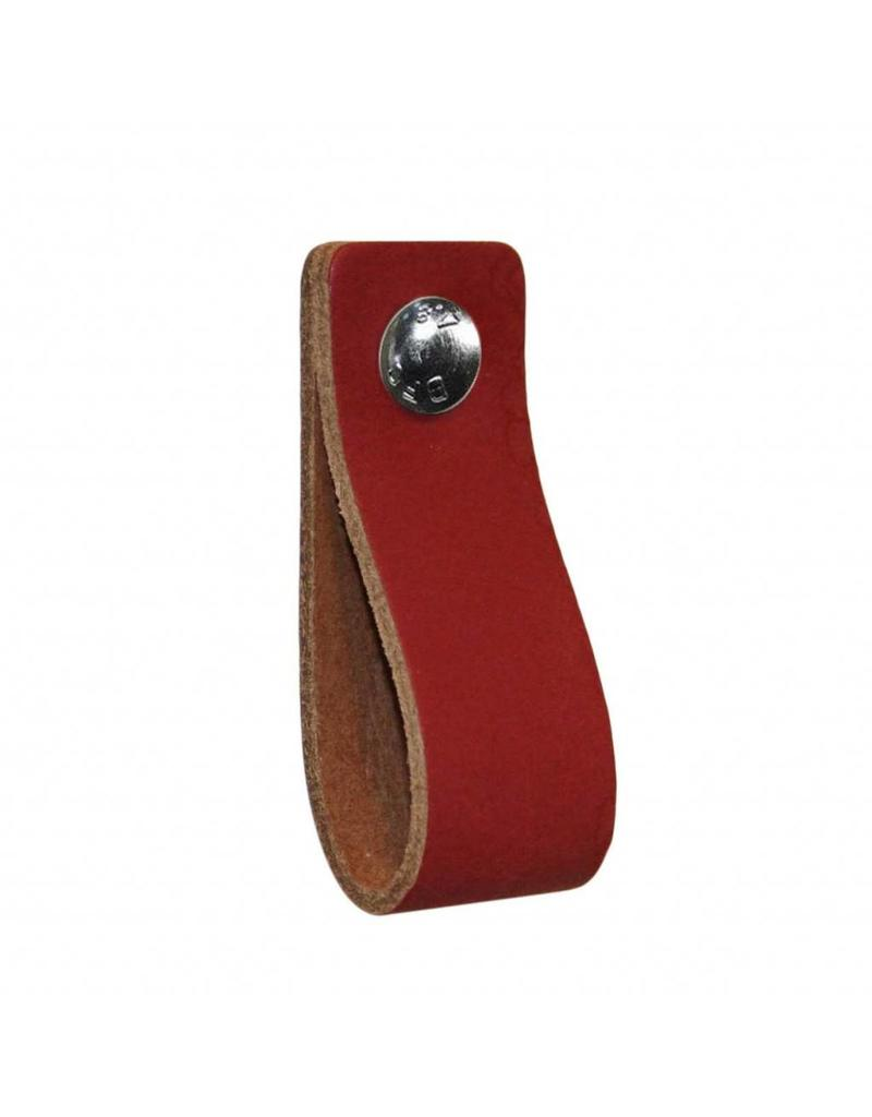 100% original Leather handle Ruby red
