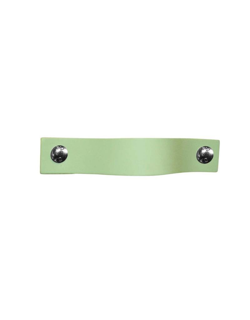 100% original Leren handgreep Pistachio mint-pastel groen