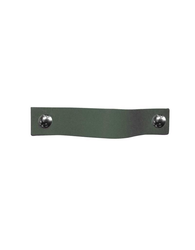 100% original Leather handle Lead gray / green