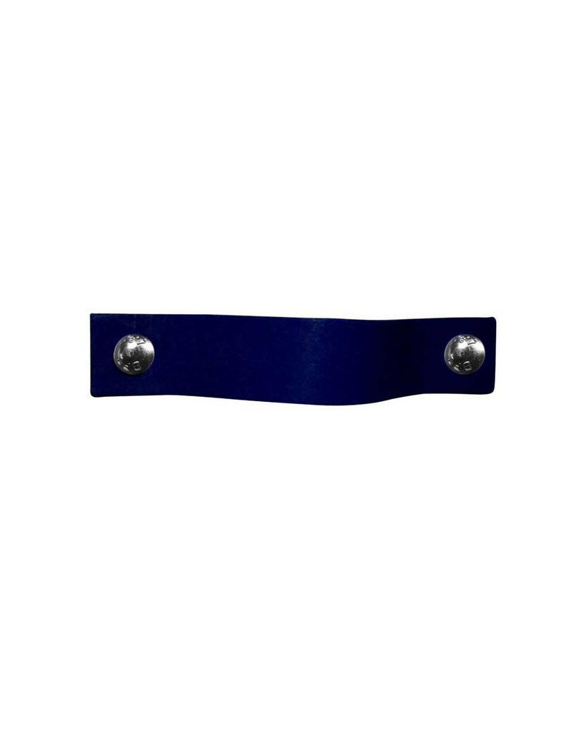 100% original Leren handgreep Donker jeans blauw XSmall 2cm breed