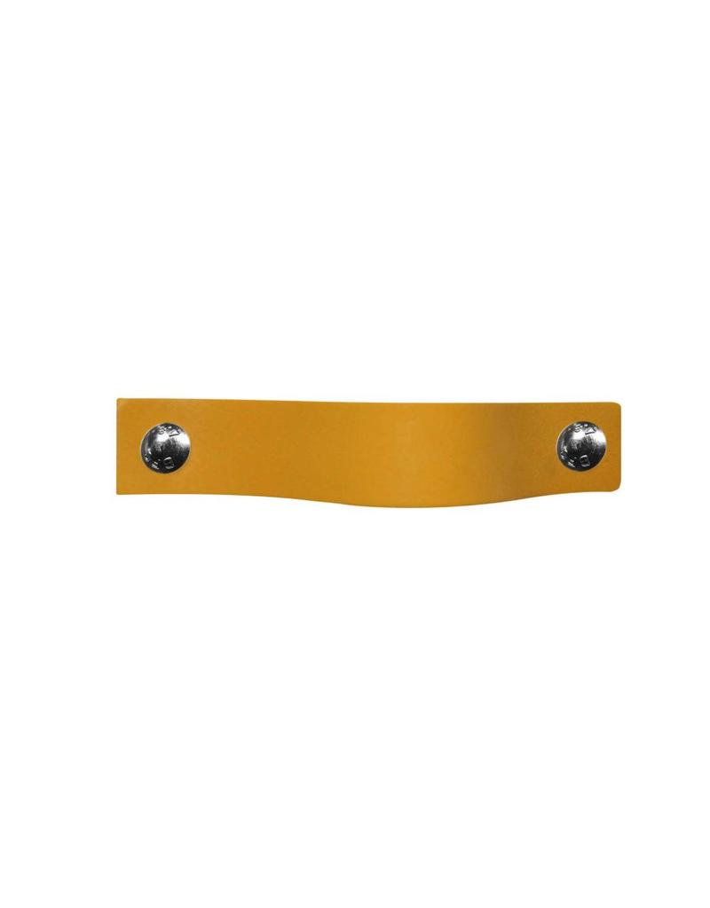 100% original Leather Pulls Yellow XSmall 2cm wide