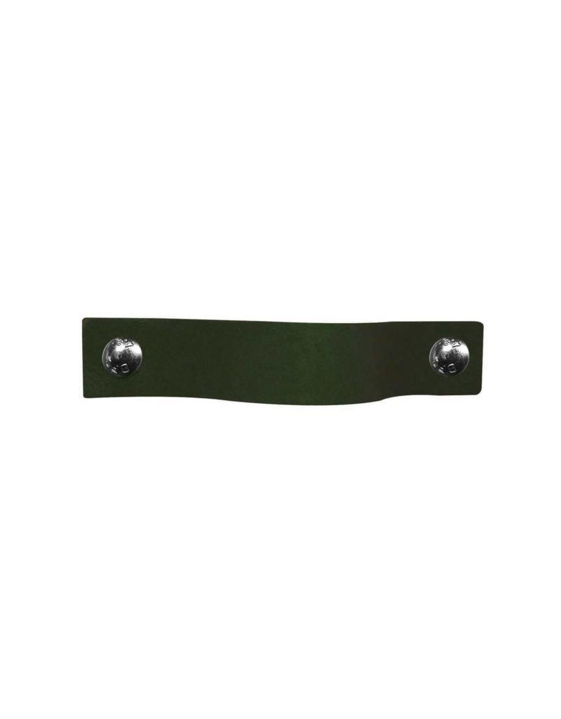 100% original Leather Pulls Khaki moss green XSmall 2cm wide