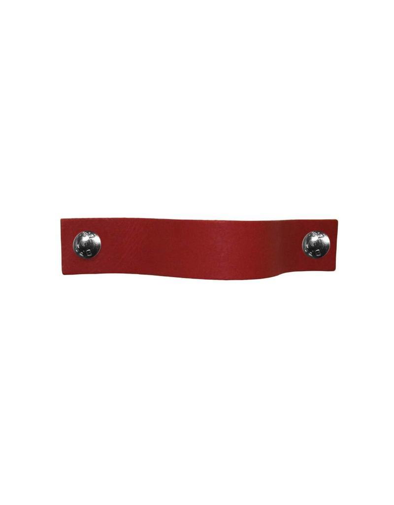 100% original Leren handgreep Ruby Rood XSmall 2cm breed
