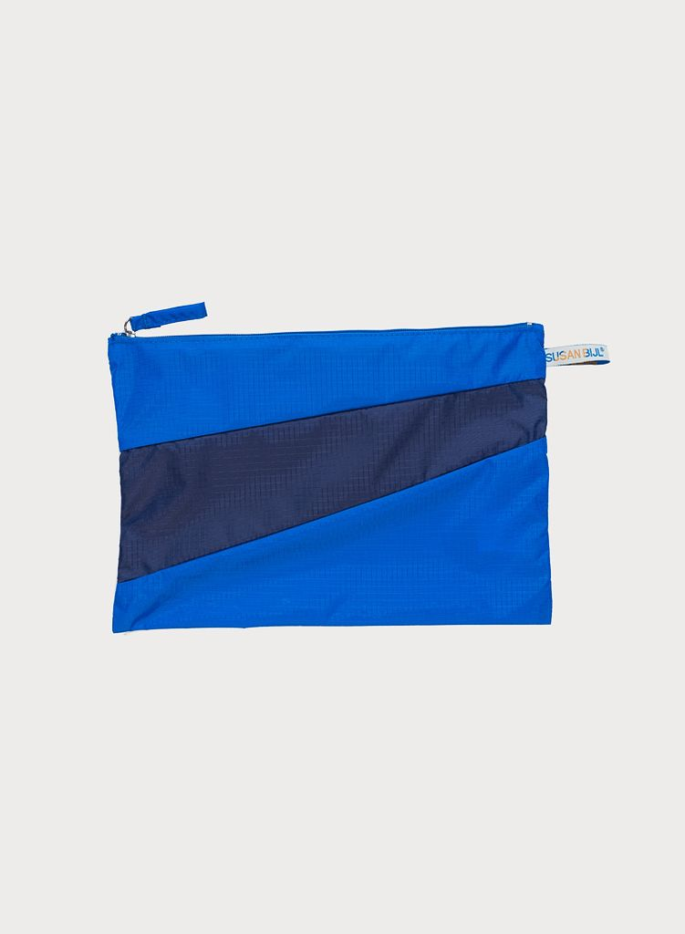 SUSAN BIJL Pouch Blue & Navy, without loops