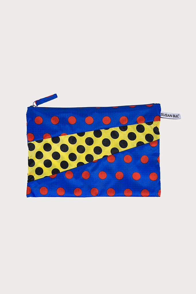 SUSAN BIJL Pouch Dots Blue & Yellow