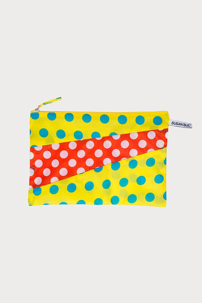 SUSAN BIJL Pouch Dots Yellow & Red