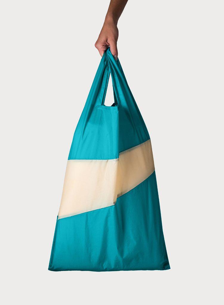 SUSAN BIJL Shoppingbag Aqua & Calcite
