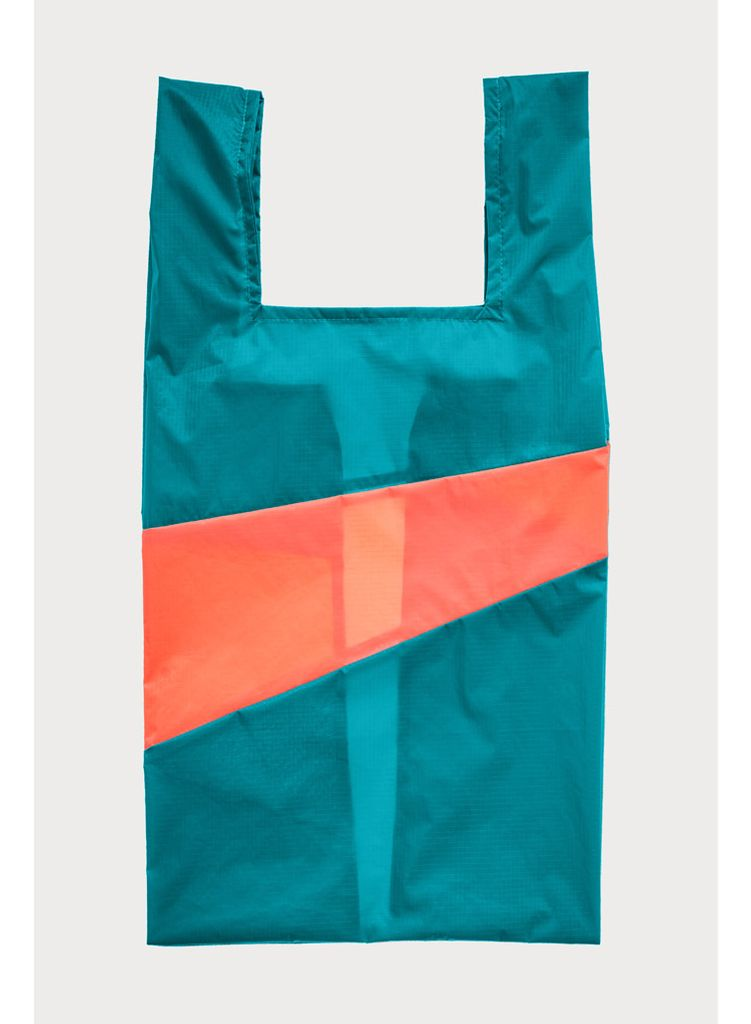 SUSAN BIJL Shoppingbag Aqua & Rhodo