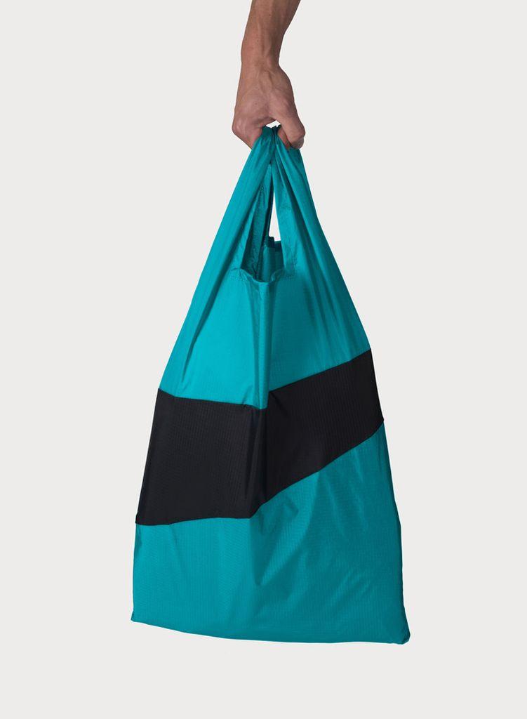 SUSAN BIJL Shoppingbag Aqua & Git