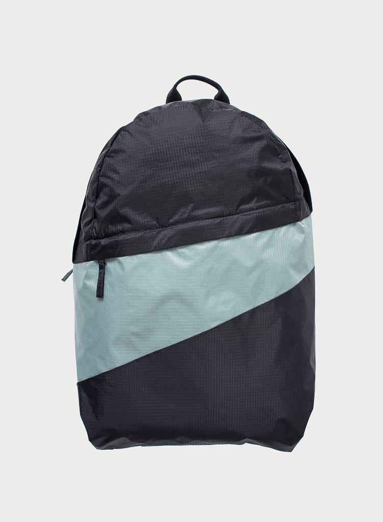 SUSAN BIJL Foldable Backpack Black & Grey