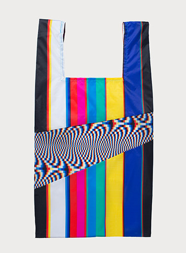 SUSAN BIJL Shoppingbag Stripe & No Signal