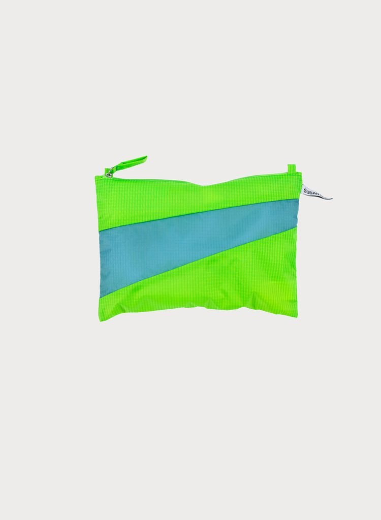 SUSAN BIJL Pouch Fluo green & Ray