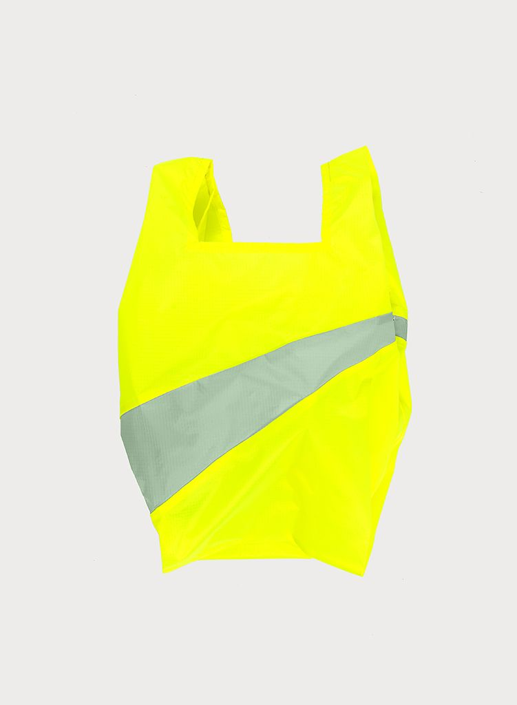 SUSAN BIJL Shoppingbag Fluo yellow & Fien