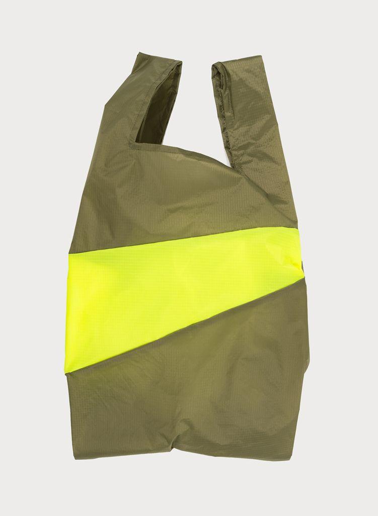 SUSAN BIJL Shoppingbag Tetra & Fluo yellow