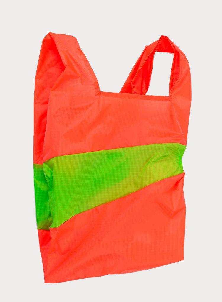 SUSAN BIJL Shoppingbag Rhodo & Fluo green