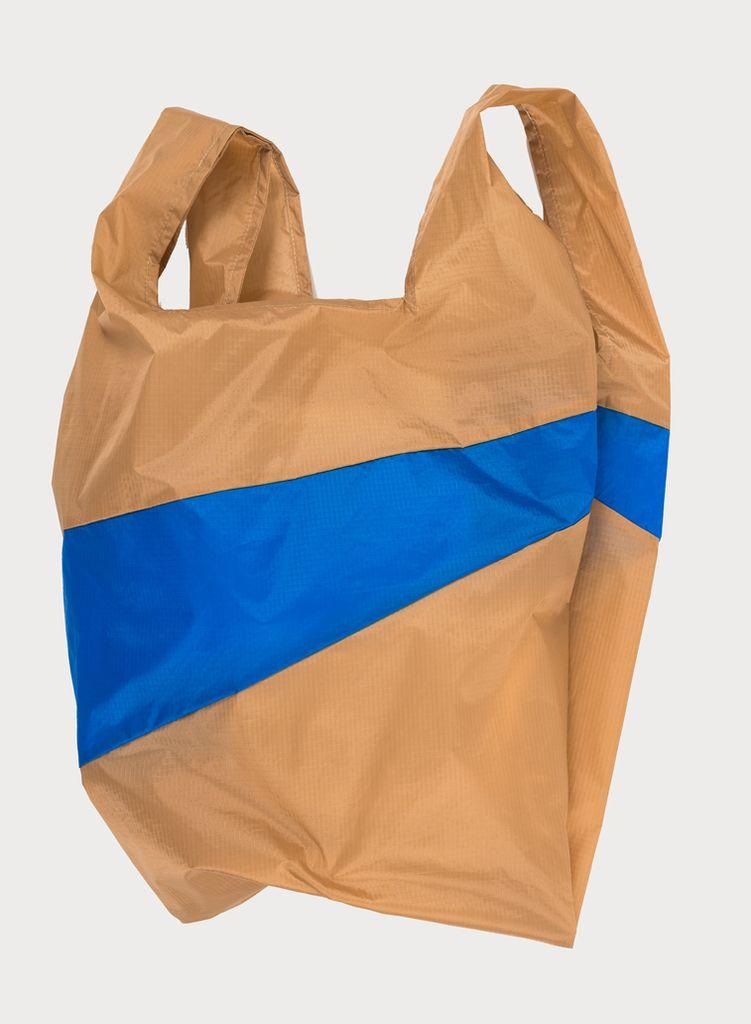 SUSAN BIJL Shoppingbag Camel & Blue