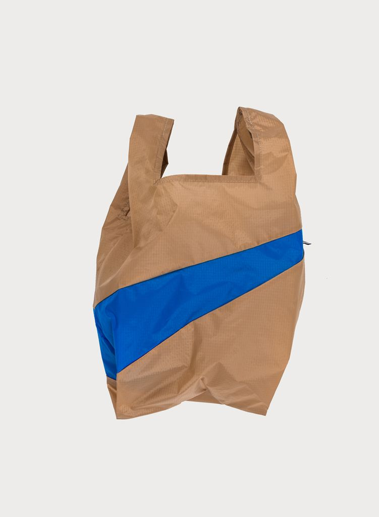 SUSAN BIJL Shoppingbag Camel & Blue