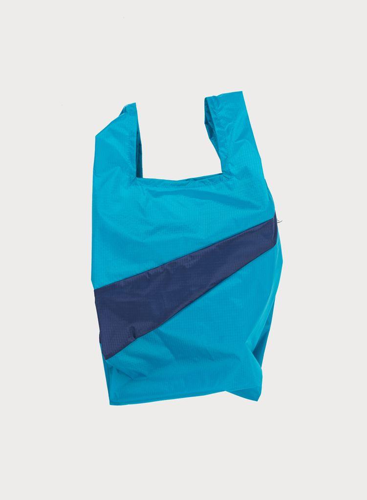 SUSAN BIJL Shoppingbag Aqua & Navy