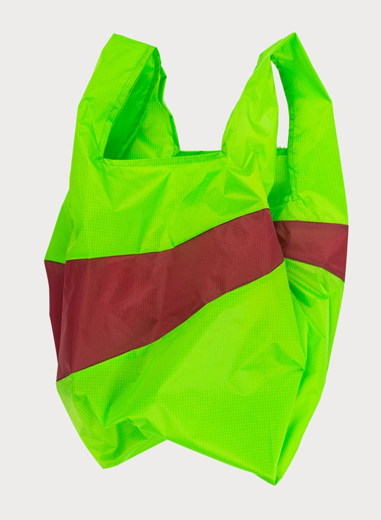 SUSAN BIJL Shoppingbag Fluo green & Hans
