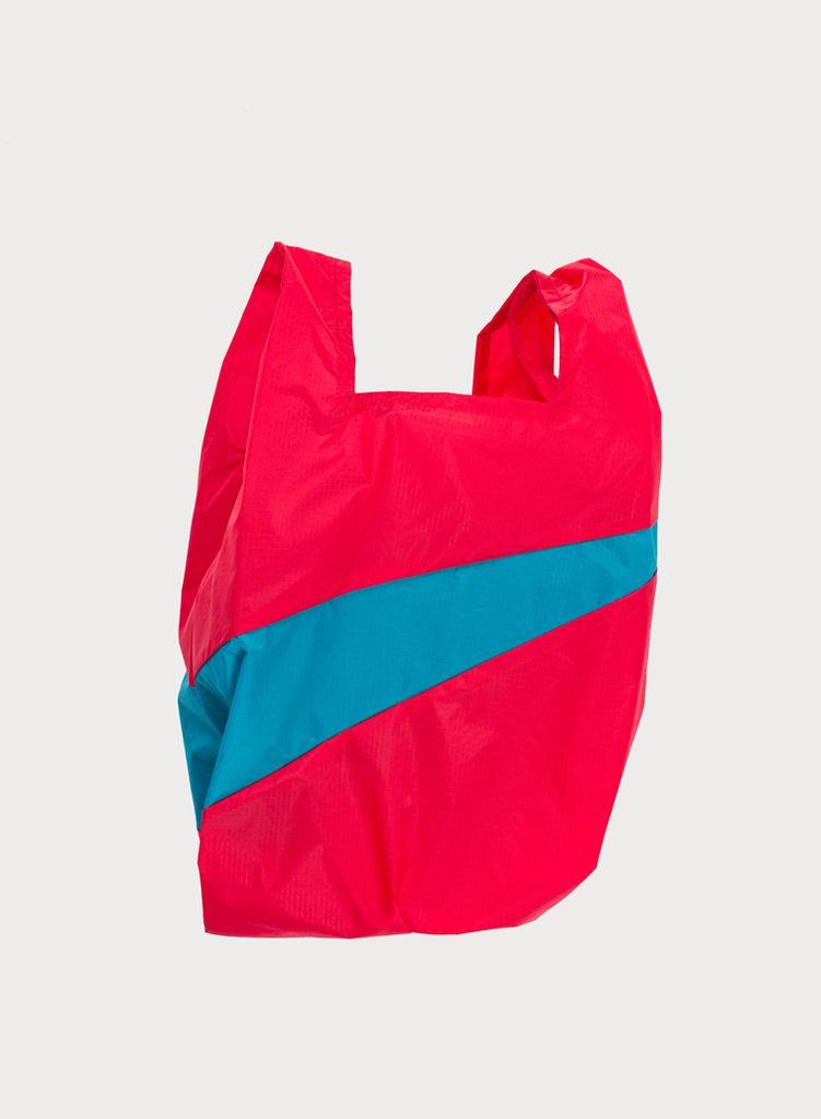 SUSAN BIJL Shoppingbag Red & Aqua