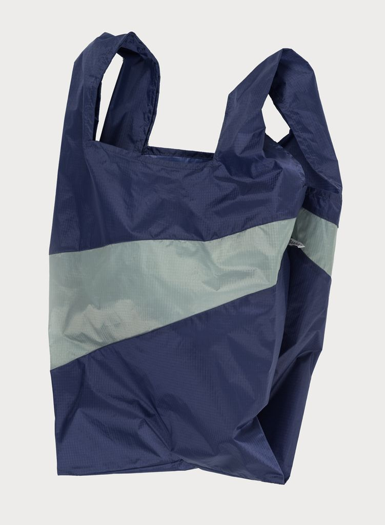 SUSAN BIJL Shoppingbag Navy & Grey